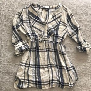 Blue and White Maternity Tunic Pea in a Pod